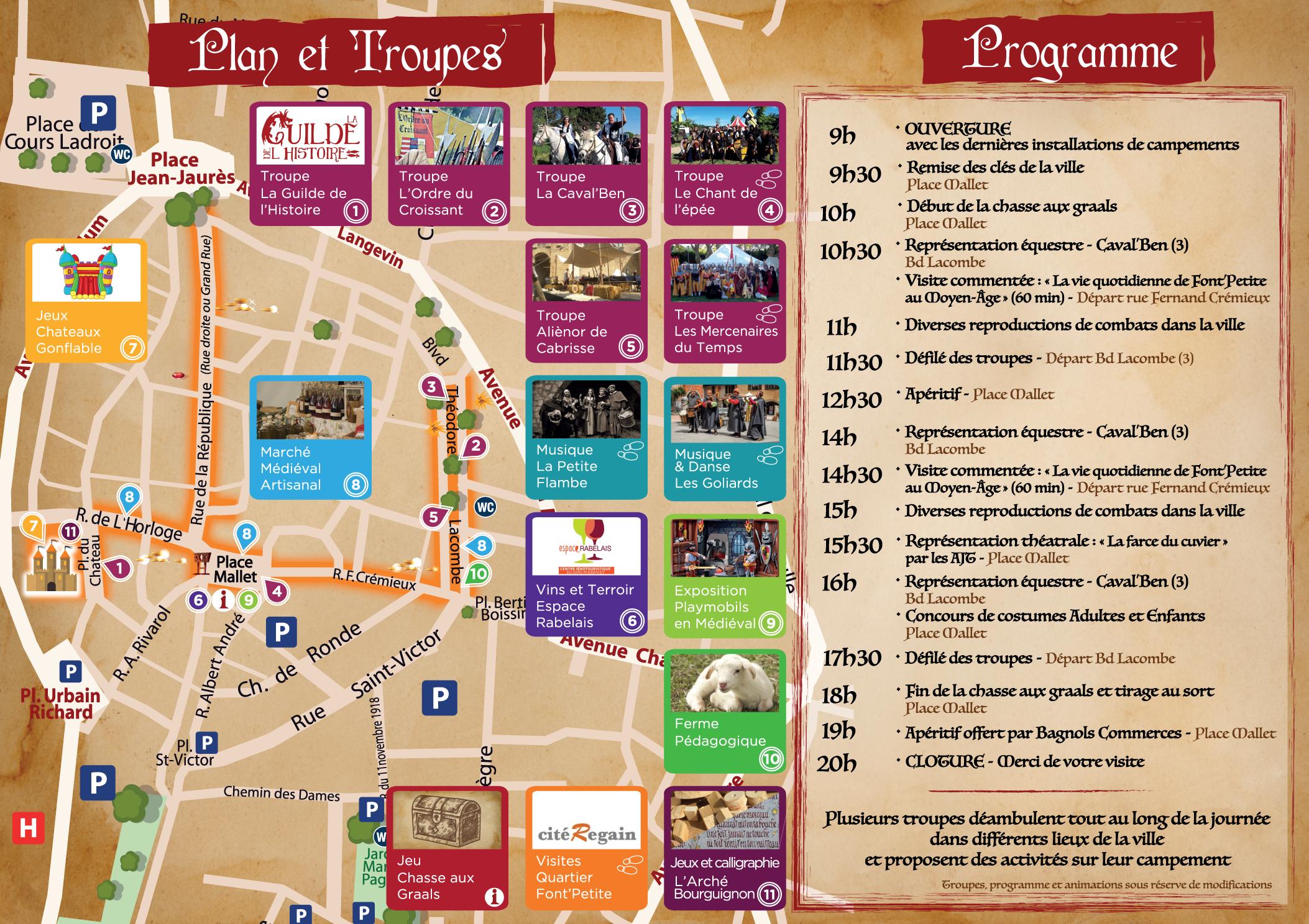 Programme Bagnols Médiéval